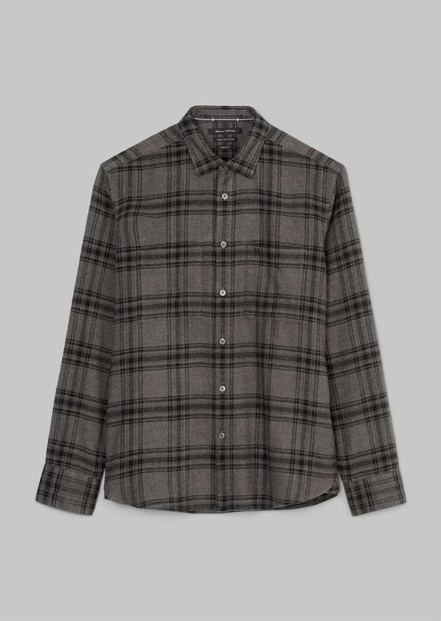 Flanell-Hemd Heritage-Look multi gray pinstribe